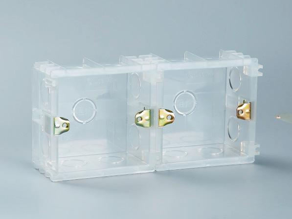 PVC透明86无缝式接线底盒