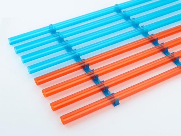 PVC红蓝透明地面连排管夹