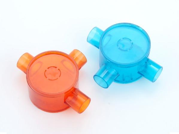 PVC红蓝透明圆通接线底盒