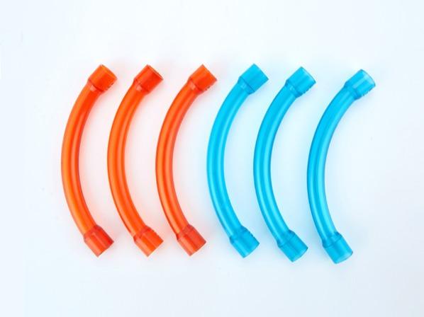 PVC红蓝透明90度大弯头
