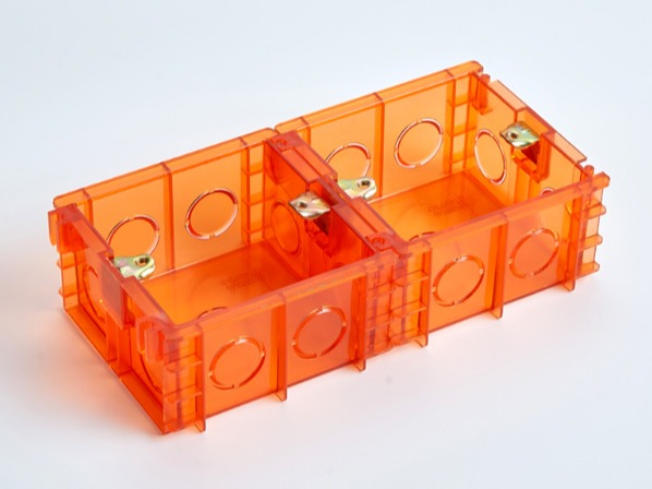 PVC红蓝透明86无缝式接线底盒