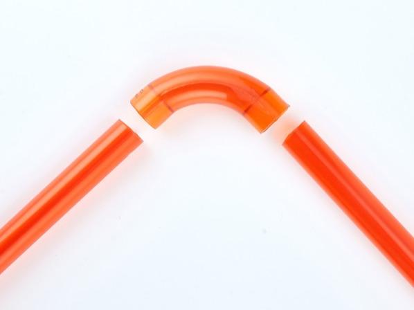 PVC红蓝透明上墙弯