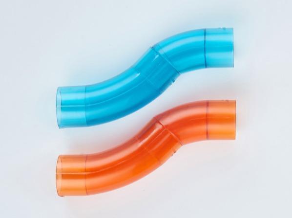 PVC红蓝透明过桥弯