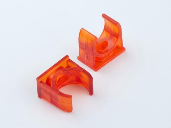 PVC红蓝透明线管管夹