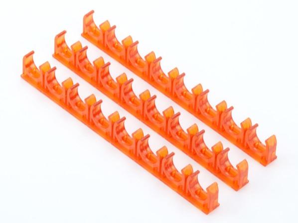 PVC红蓝透明天花连排管夹