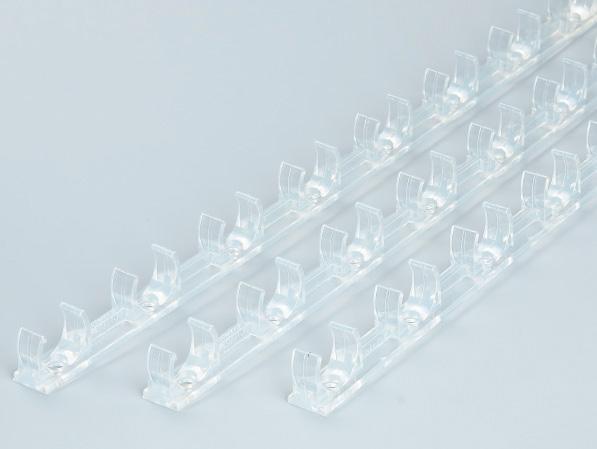 PVC透明地面连排管夹